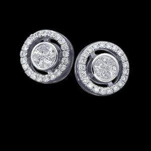 Jewelry - 3.5 carat round diamond studs earring pair gold wh